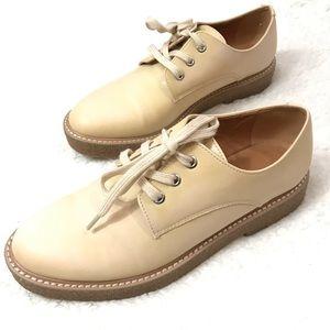 Shoes - ⬇️$68 Nude Chunky Platform Oxfords Size 8